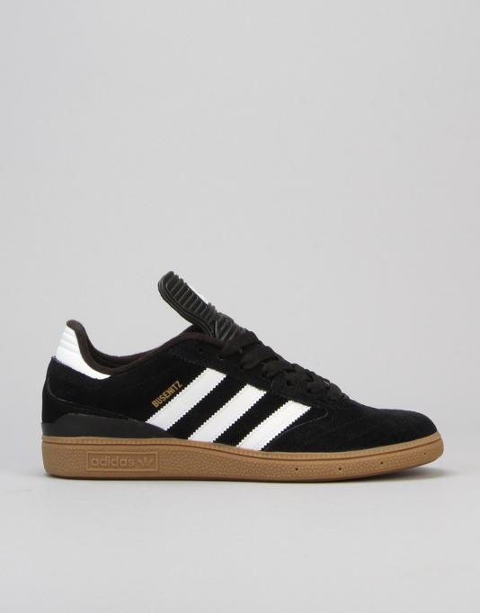 Adidas Busenitz Pro Skate Shoes - Black/Running White/Metallic Gold