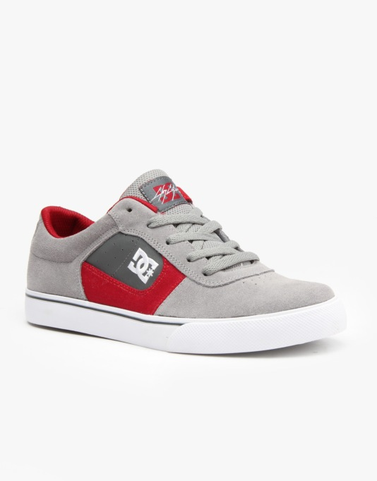 DC Cole Pro Boys Skate Shoes - Grey/Grey/Grey