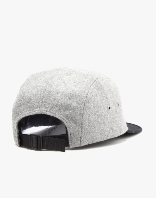 HUF Wool Script Volley 5 Panel Cap - Grey Heather