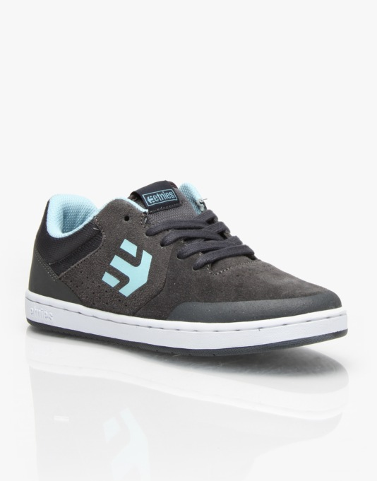 Etnies Marana Boys Skate Shoes - Dark Grey/Blue
