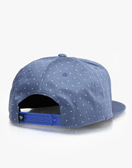 Diamond Supply Co. Micro Diamond Snapback Cap - Blue