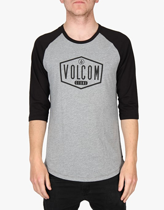 Volcom To The Bone 3/4 T-Shirt - Heather Grey