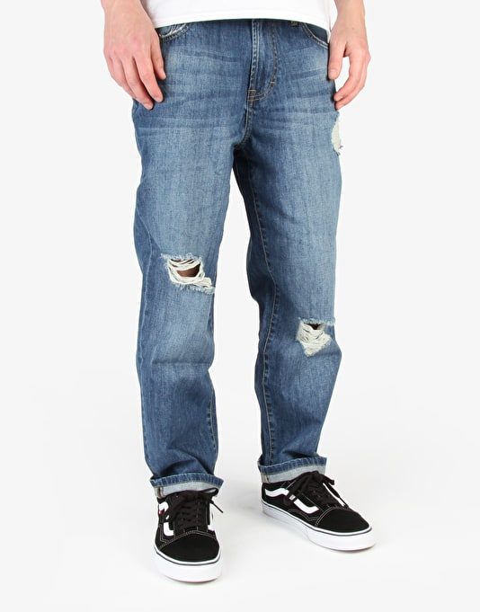 Wåven Bjorn Loose Denim Jeans - Blue