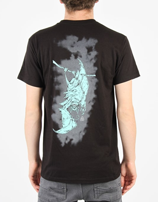Welcome Batty T-Shirt - Black/Teal