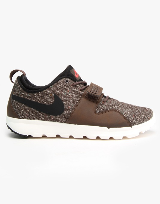 Nike SB Trainerendor Skate Shoes - Brq Brown/Blk-Ivry-Lt Crmsn