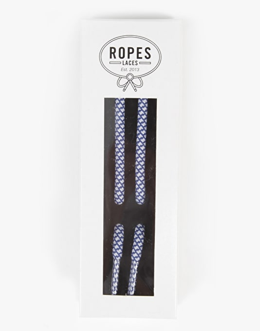 Ropes Laces Classic Lace - Sea Spray (Navy/White)