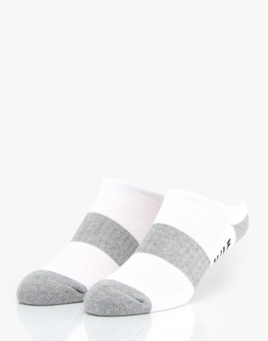 HUF Performance No Show Socks - White