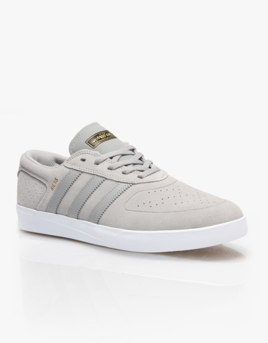 Adidas x Habitat Silas Vulc Skate Shoes - Solid Grey/Solid Grey/White