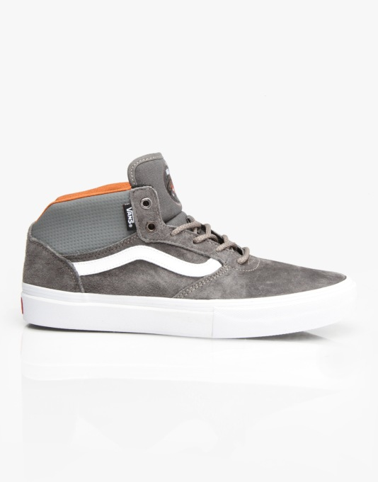 Vans Gilbert Crockett Pro Mid Skate Shoes - Pewter/White