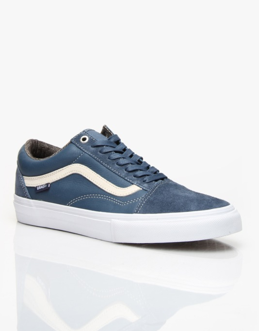 Vans Old Skool Pro Skate Shoes - Dull Navy