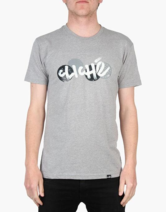 Cliché City Grate T-Shirt - Heather Grey