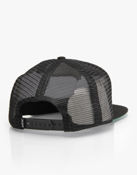 HUF Spring Break Trucker Cap - Black