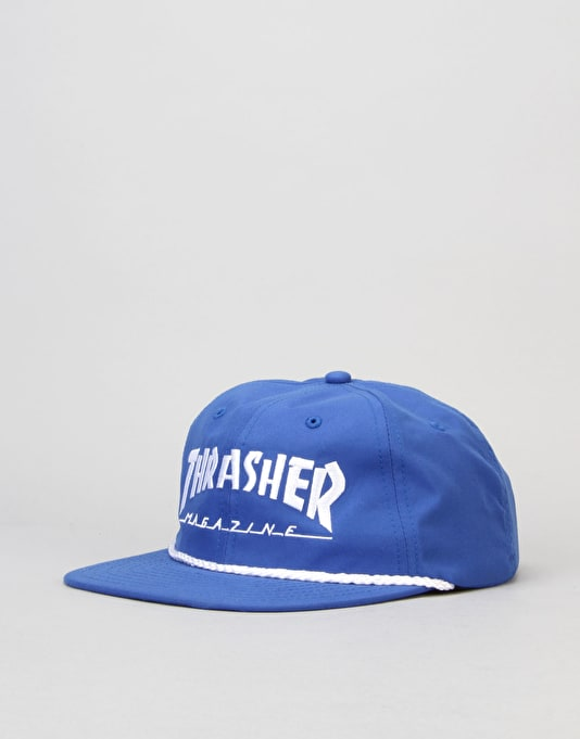 Thrasher Rope Snapback Cap - Blue/White