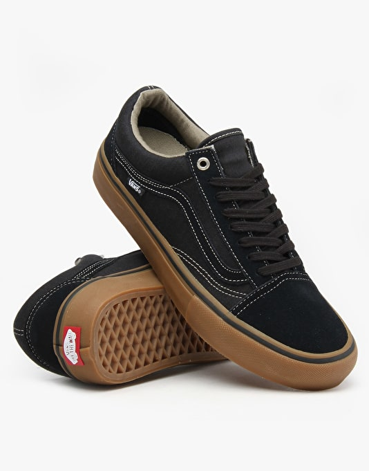 Vans Old Skool Pro Skate Shoes - Blue Graphite/Gum