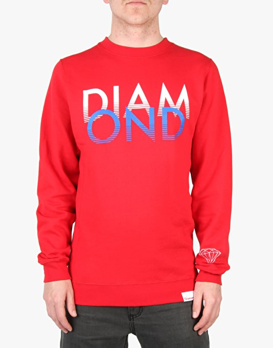 Diamond Supply Co. White Sands Crewneck - Red