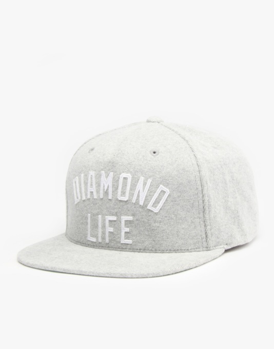 Diamond Supply Co. Arch Snapback Cap - Heather Grey