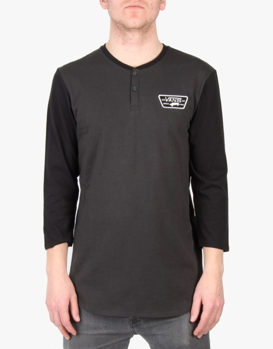 Vans Cajon L/S T-Shirt - New Charcoal/Black