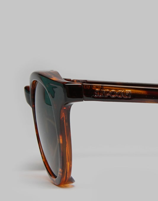 Sunpocket Samoa Folding Sunglasses - Dark Tortoise