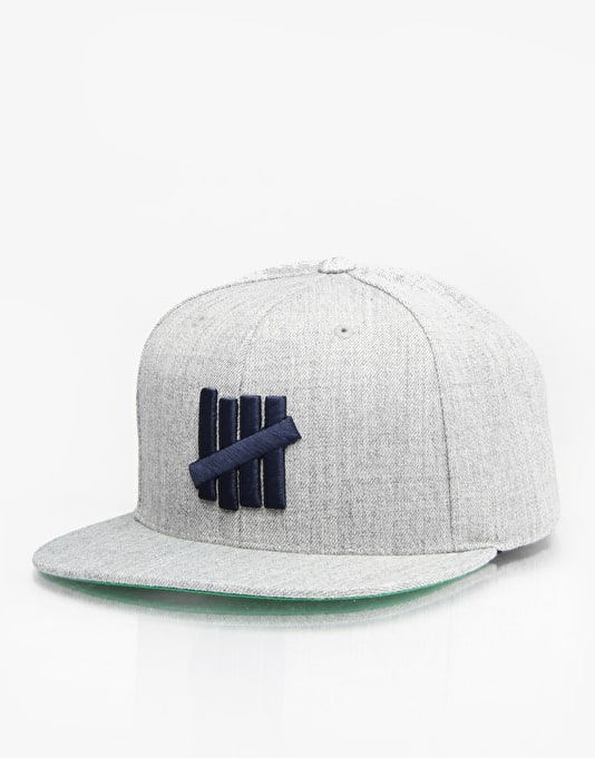 Undefeated 5 Strike Snapback Cap - Grey Heather