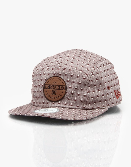 DC Tanning Bed 5 Panel Cap - Zifandel