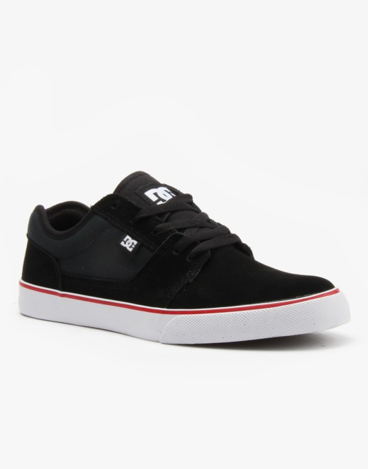 DC Tonik Skate Shoes - Black/Grey/ Red