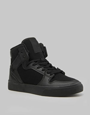 Supra Vaider Boys Skate Shoes - Black/Black/Black