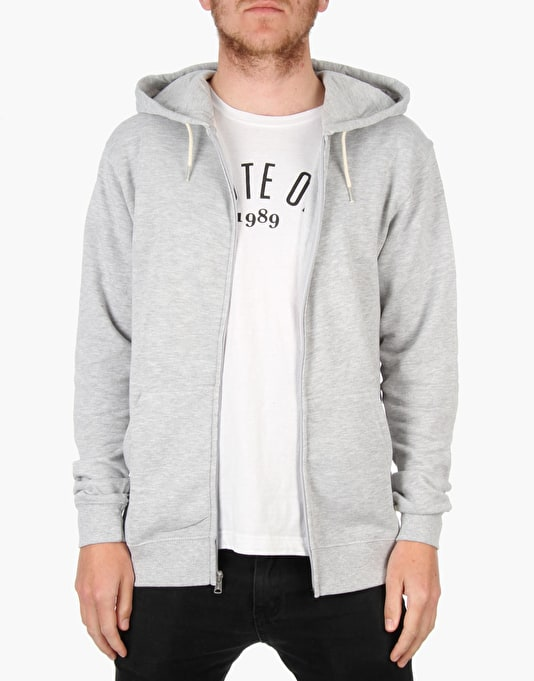 DC Rebel Zip Hoodie 3 - Heather Grey