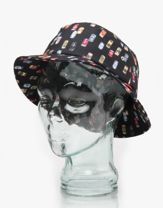 Acapulco Gold Beer Cans Bucket Hat - Black