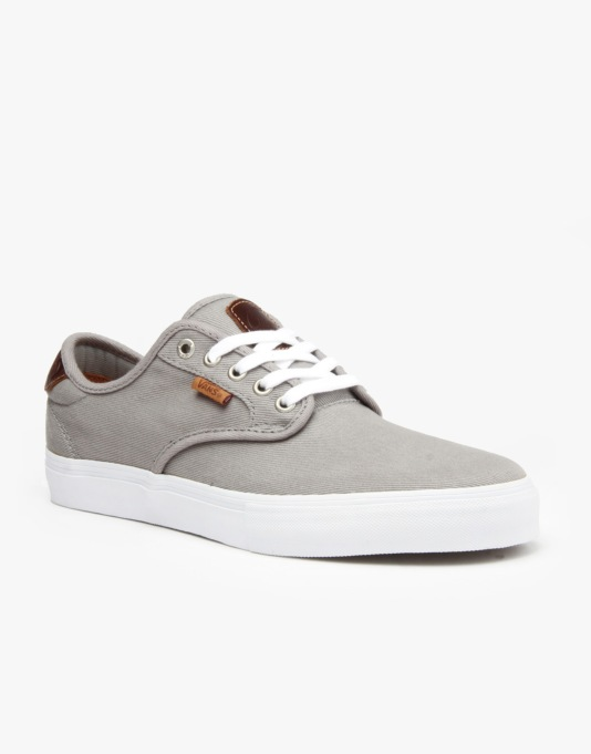 Vans Chima Ferguson Pro Skate Shoes - (Saddle) Grey White  7da68d635