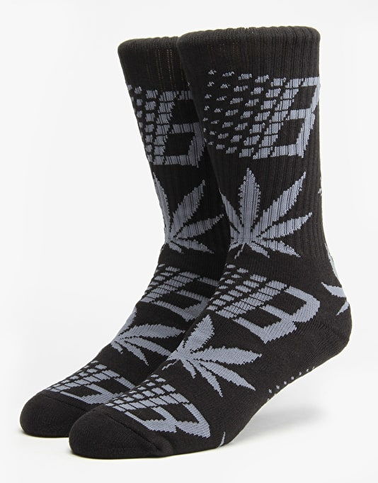HUF x Bronze Jacquard Knit Socks - Black/Grey