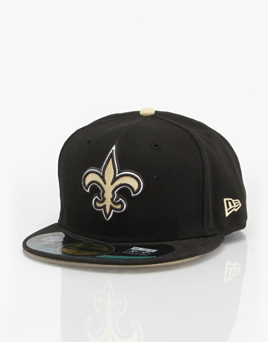 New Era NFL On Field New Orleans Saints Fitted Cap - Black/Gold