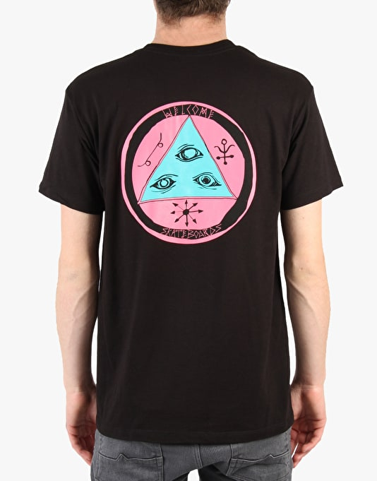 Welcome Talisman Tri- Colour T-Shirt - Black/Pink