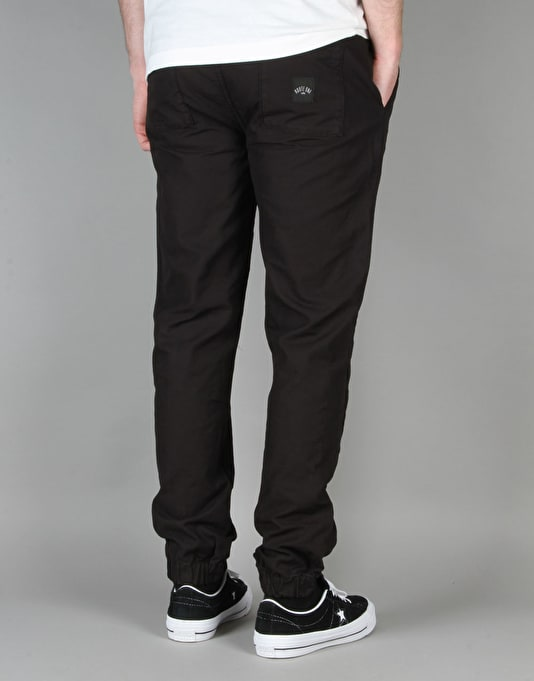 Route One Cuffed Chinos - Black