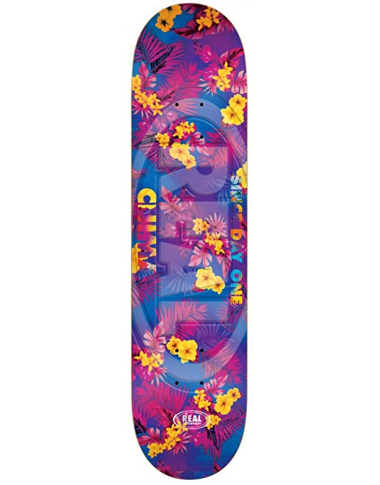Real Chima Floral Oval Embossed Pro Deck - 8.18""