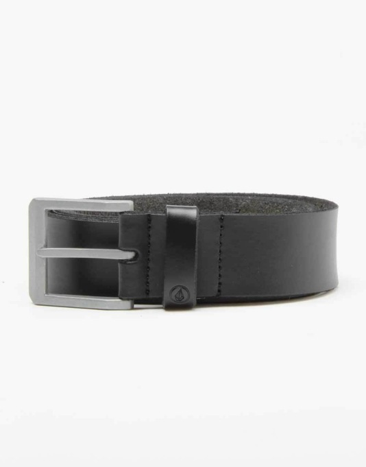 Volcom Stringer Leather Belt - Black