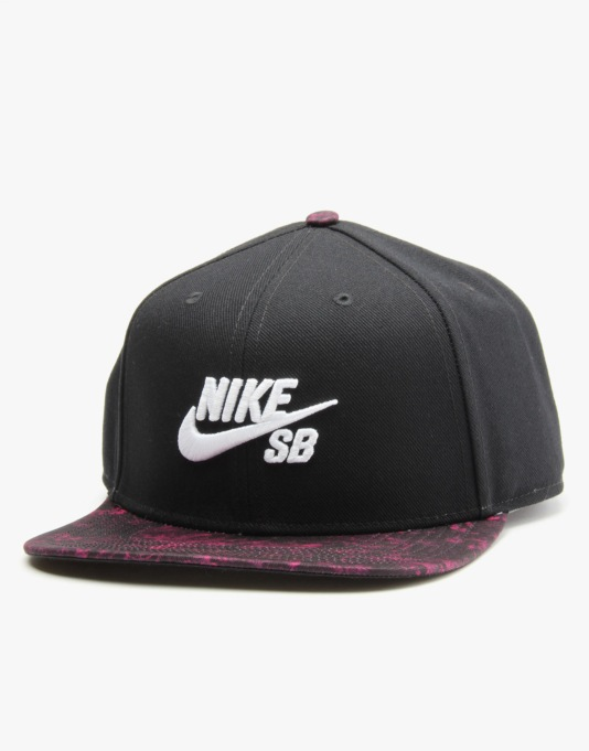 Nike SB Seasonal Snapback Cap - Black/Black/White