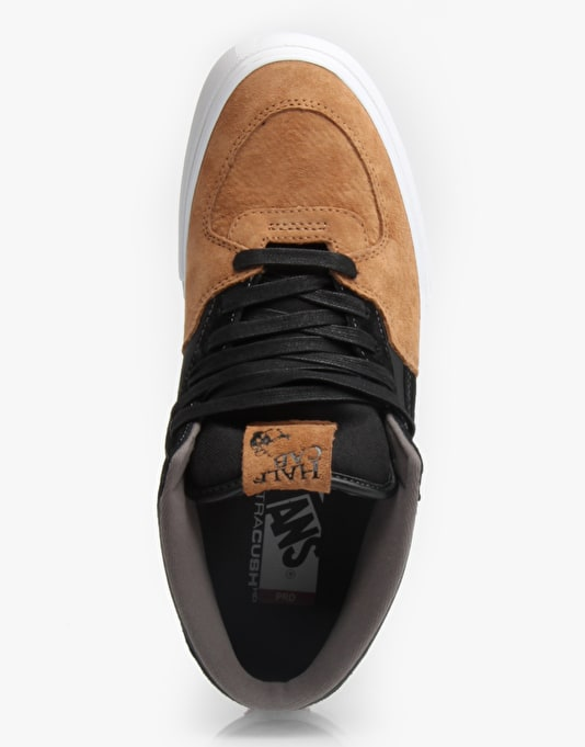 Vans Half Cab Pro Skate Shoes - Tan/Black