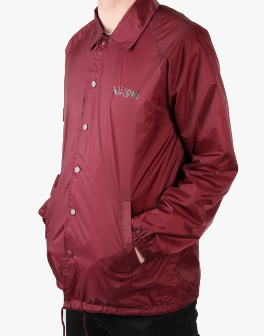 Welcome Talisman Coach Jacket - Maroon/Black