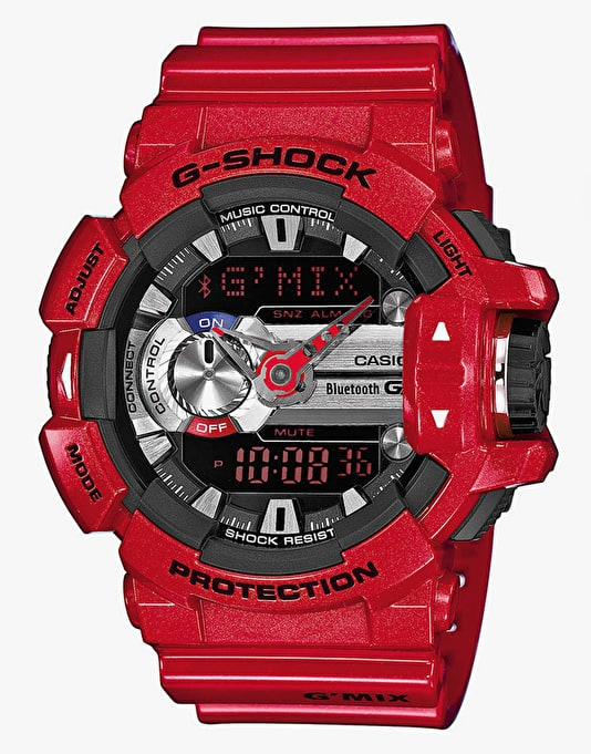 G-Shock GBA-400-4AER G-Mix Bluetooth Watch - Red
