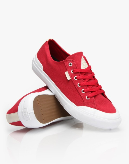 HUF Classic Lo Skate Shoes - Crimson Canvas