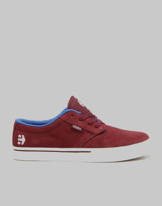 Etnies Jameson 2 Eco Boys Skate Shoes - Red/Blue/White