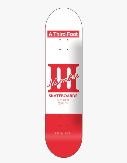 A Third Foot Card Team Deck - 8.125""