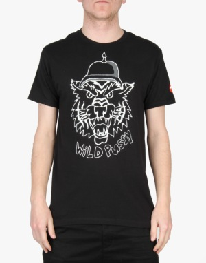 Almost Wild Pussy T-Shirt - Black