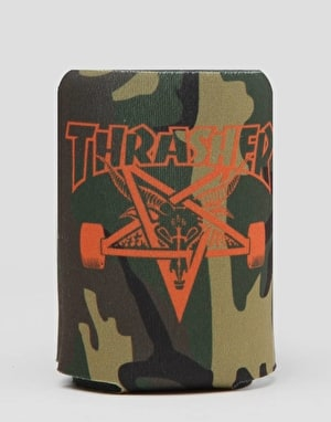 Thrasher Skate Goat Beer Koozie - Camo/Orange