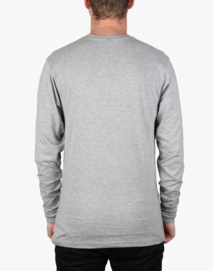 Santa Cruz Classic Dot L/S T-Shirt - Dark Heather