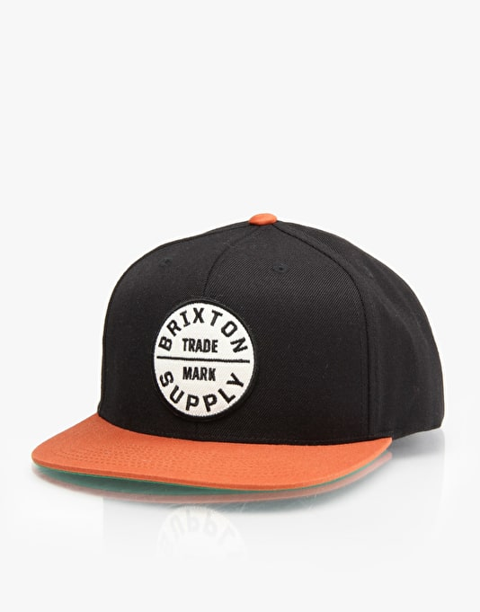 Brixton Oath III Snapback Cap - Black/Orange