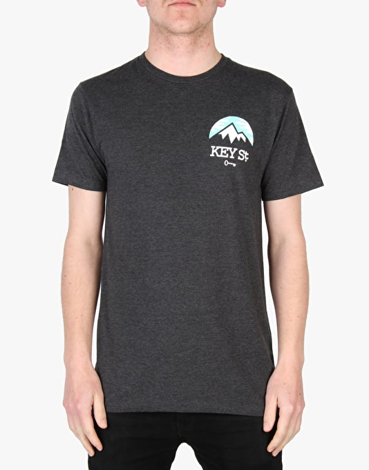 Key Street Take A Hike T-Shirt - Heather Black