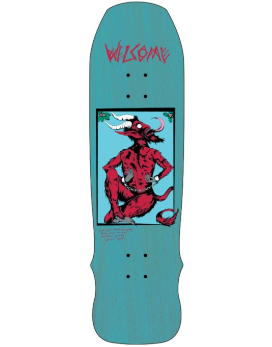 Welcome Krampus on Time Traveler Skateboard Deck - 8.8""
