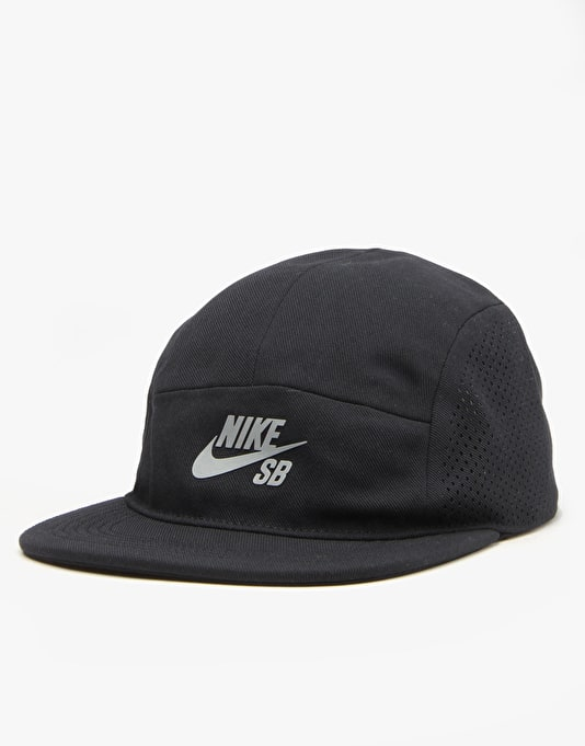 Nike SB Performance 5 Panel Cap - Black/Black/Black/Reflective Silver