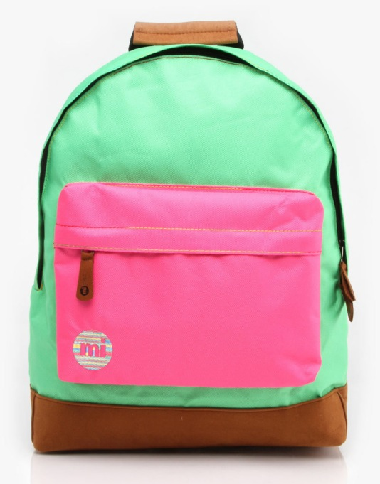 Mi-Pac Tonal Backpack - Kelly Green/Hot Pink